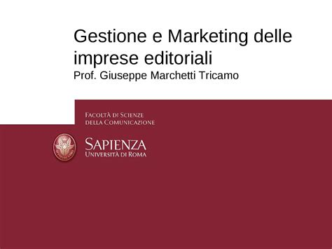 Dispense Di Marketing by Imprese Editoriali Gestione E Marketing Dispense