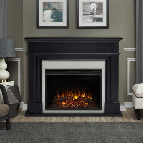 Black Fireplace - real harlan grand 55 in electric fireplace in black