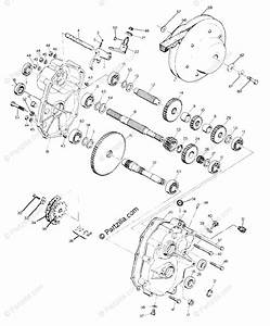 Polaris Atv 1989 Oem Parts Diagram For Gearcase Assembly