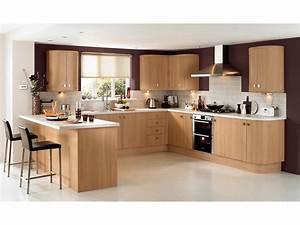 Cuisine chene clair contemporaine collection avec cuisine for Idee deco cuisine avec meuble salle a manger chene blanchi