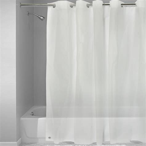plastic shower ez on frosted clear plastic 72 quot x 72 quot hookless shower