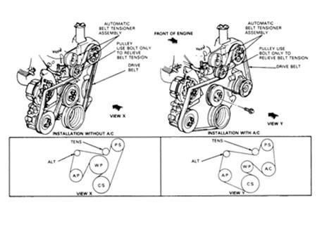 replace  drive belt   ford fiesta