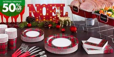 Holiday Plaid Party Supplies Outdoor Fireplace Burner Home Depot Propane Fire Pit Chimney Galvanized Tub Grill Cover Bar Height Gas Table Patio Stones Spark Screens
