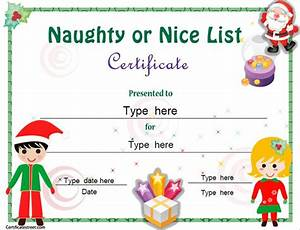 christmas education certificate templates for kids ...