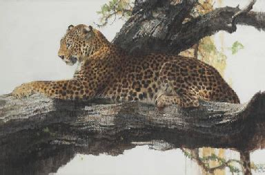 bob kuhn american   leopard  light