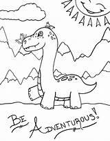 Dinosaur Coloring Smart Dino Neck Raising Adventurous Printable Worksheets Library sketch template