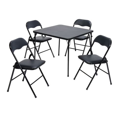 square table and chairs shop suddencomfort 34 in x 34 in square steel folding