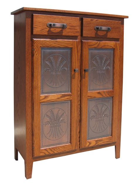 traditional small pie safe  tin panels amish