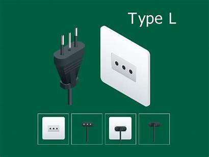 Type Plug Electrical Socket Italy Italian Common