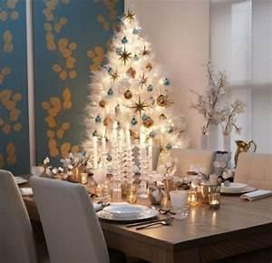 Deco Noel Blanc : decoration sapin noel ornements feutre accueil design et mobilier ~ Teatrodelosmanantiales.com Idées de Décoration