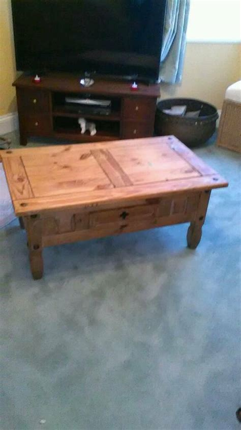 You'll find coffee tables in every shape, size, color, material, & style. Mexican pine large coffee table   in Torquay, Devon   Gumtree