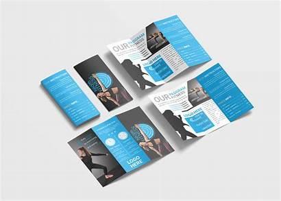 Brochure Fold Tri Template Fitness