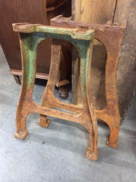 vintage industrial french cast iron table legs