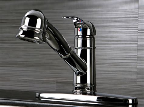 Pull Out Kitchen Faucet With Deck Plate