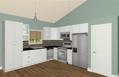 what type of island will fit into this l shaped kitchen
