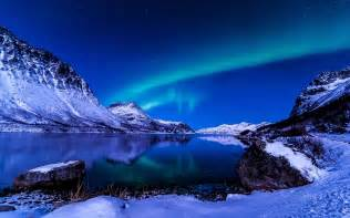 Beautiful Mountain Winter at Night