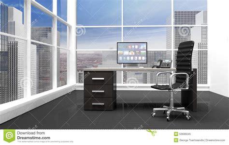 bureaux moderne intérieur d 39 un bureau moderne illustration stock image