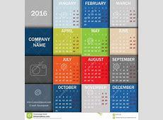 Calendar For 2016 Week Starts Monday Info Graphic Design