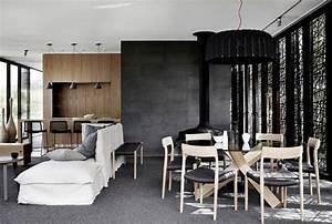 Salle A Manger Noir : salon noir et blanc et salon gris en 50 photos remarquables ~ Premium-room.com Idées de Décoration