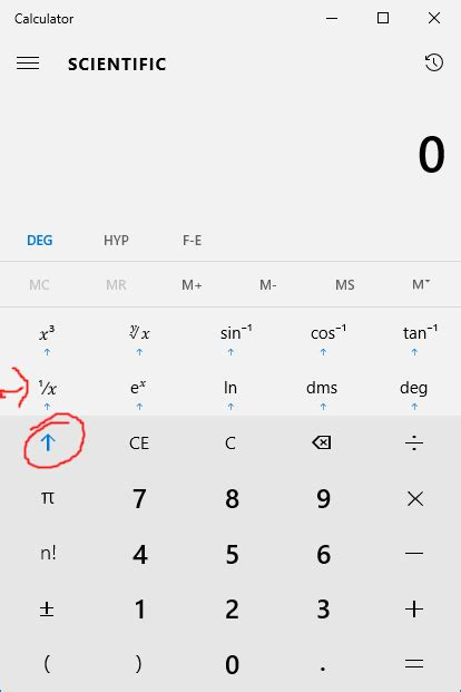 reciprocal   scientific mode  windows  calculator super user