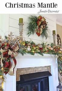 Pinterest Decoration : how to decorate a mantle for christmas from jennifer christmas decorating ideas ~ Melissatoandfro.com Idées de Décoration