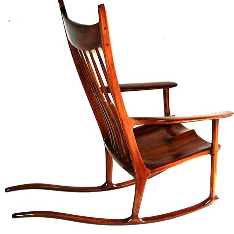 large wood planter rocking chair maloof inspired sculpture by alok mital