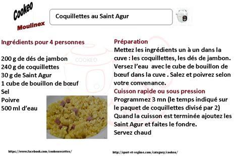 coquillettes au saint agur une recette cookeo