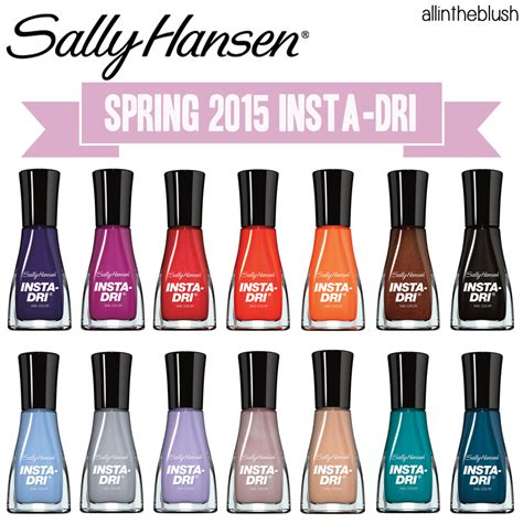 2015 nail colors sally hansen insta dri 2015 nail colors all in