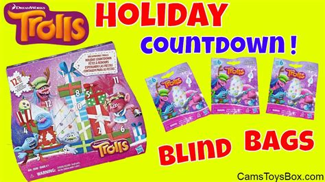trolls holiday blind bags countdown dreamworks surprise