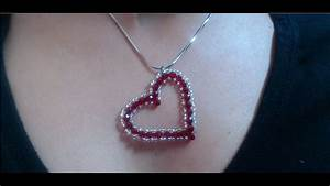 Diy Crystal Heart Pendant  Quick And Easy     Valentine U0026 39 S