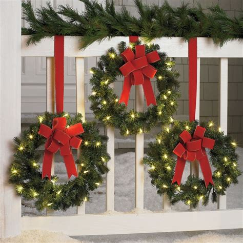 17 best ideas about pre lit wreaths on