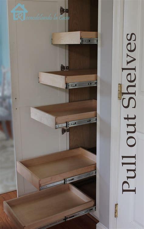 kitchen organization pull  shelves  pantry remodelando la casa
