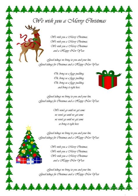 merry christmas worksheet  esl
