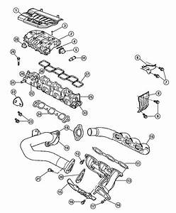Chrysler Pacifica Gasket  Crossover Pipe  Engine  Manifold