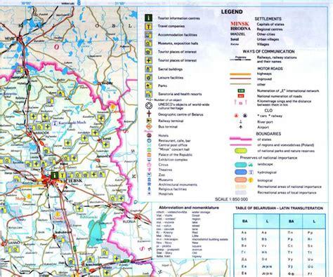 belarus on map vitebsk city and map 39 s legend