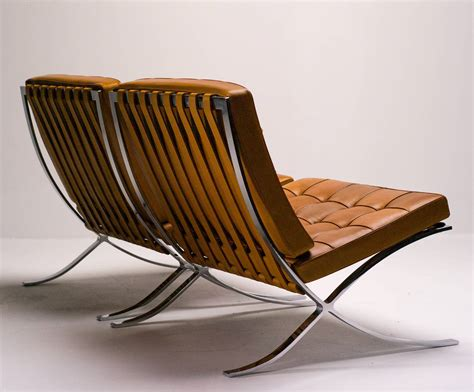 Barcelona Chairs In Saddle Leather By Mies Van Der Rohe