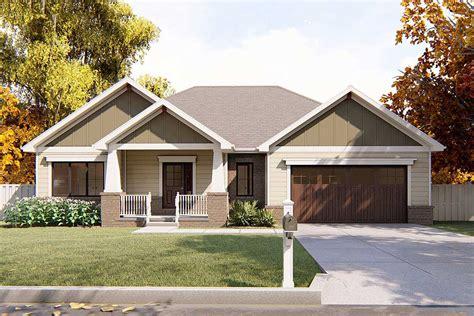 craftsman ranch house plan dj architectural designs house plans