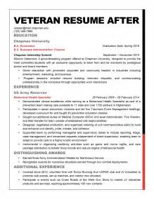 Awards On Federal Resume by 100 Resume Exle Resume Exle To Civilian Resume