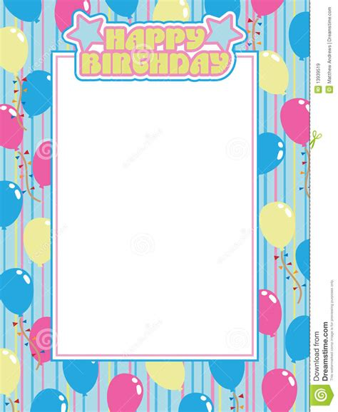 birthday frame royalty  stock images image