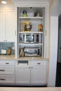 hidden microwave  toaster oven home kitchens dream