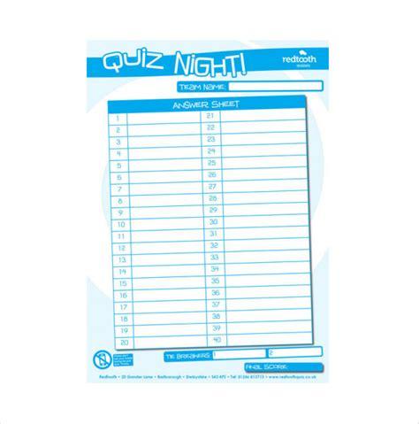 quiz template quiz sheet template livinghealthybulletin