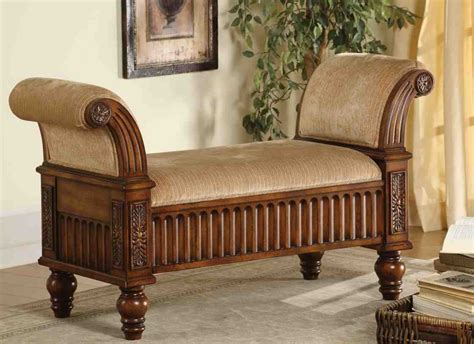 roll arm storage bench home furniture design