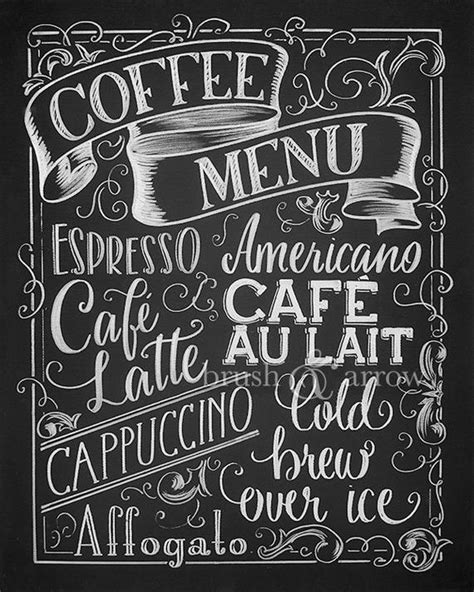 See more ideas about coffee shop, coffee shop names, cafe design. Coffee Menu printable chalkboard style instant digital