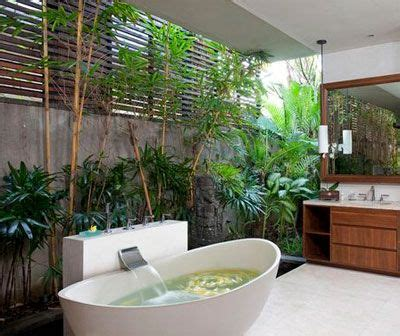 Bathroom Turned Into Jungle With Plants Trees