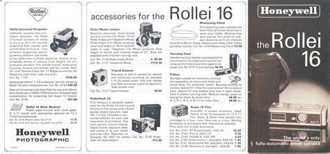 Rollei 16 Honeywell Brochure R7032