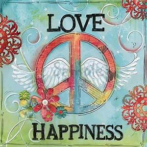 Love And Peace : love peace happiness children 39 s wall art tween teen art ~ A.2002-acura-tl-radio.info Haus und Dekorationen