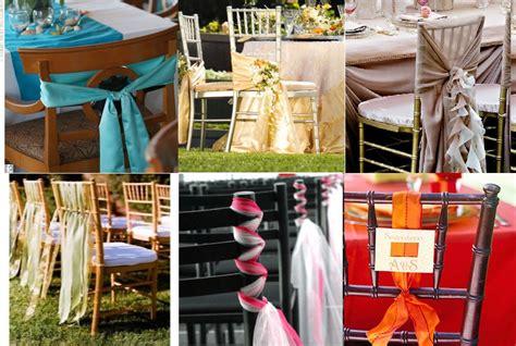noeud pour chaise décoration de chaise de mariage
