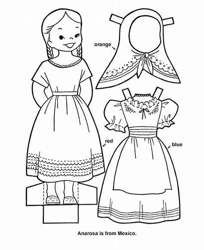 Doll Cutout Paper Printable Sheets Sheet Dolls
