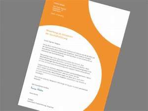 Bewerbungsschreiben muster bewerbungsschreiben design for Designvorlagen bewerbung