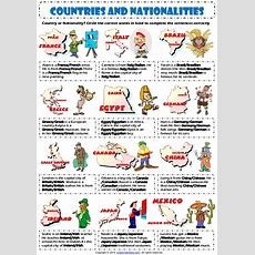 Countries And Nationalities 1 Vocabulary Exercise Worksheet